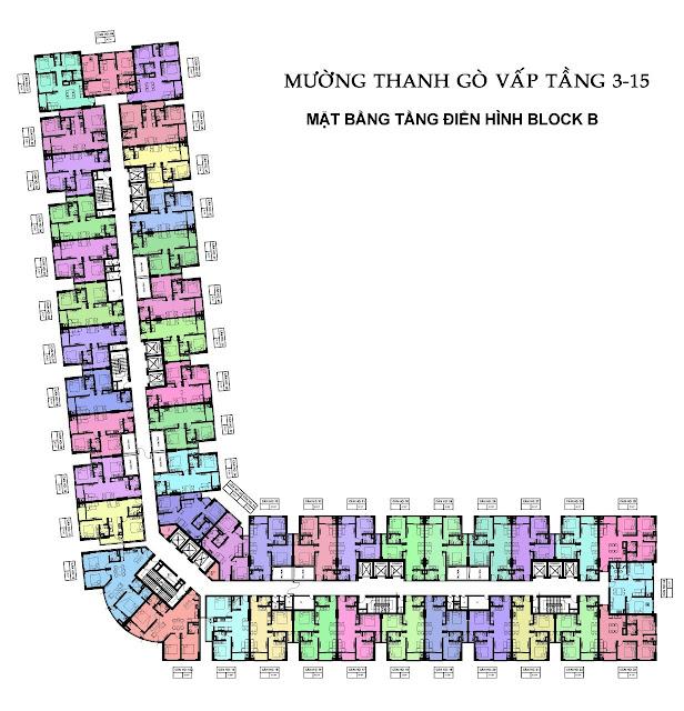 Mặt Bằng Căn Hộ Block B Mường Thanh Gò Vấp Sài Gòn