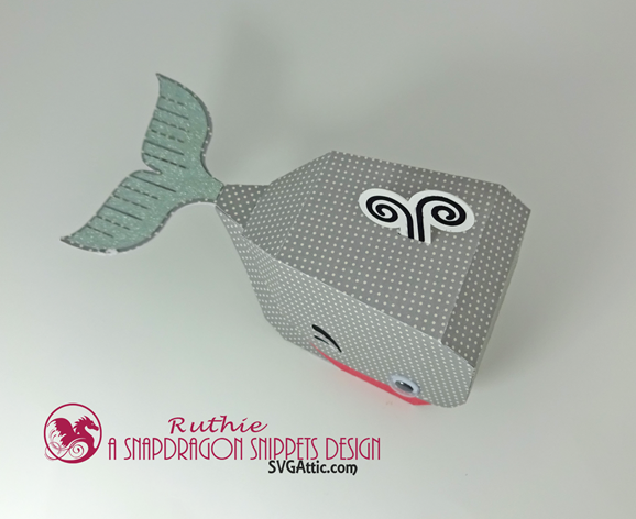 Whale 3d Hinged Box  - SnapDragon Snippets - Ruthie Lopez