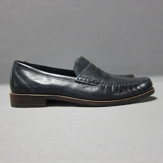 Cole Haan Navy Leather Penny Loafers