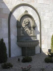 carved stone fountain, estate fountain, Exterior, Fountains, garden fountain, garden fountains, granite fountain, outdoor fountains, stone fountain, stone garden fountain, Wall, wall fountain