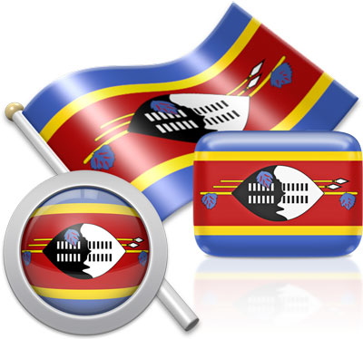 Swazi flag icons pictures collection