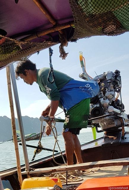 Long-tail boats  at Krabi