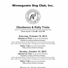 2013 October Obedience Trial