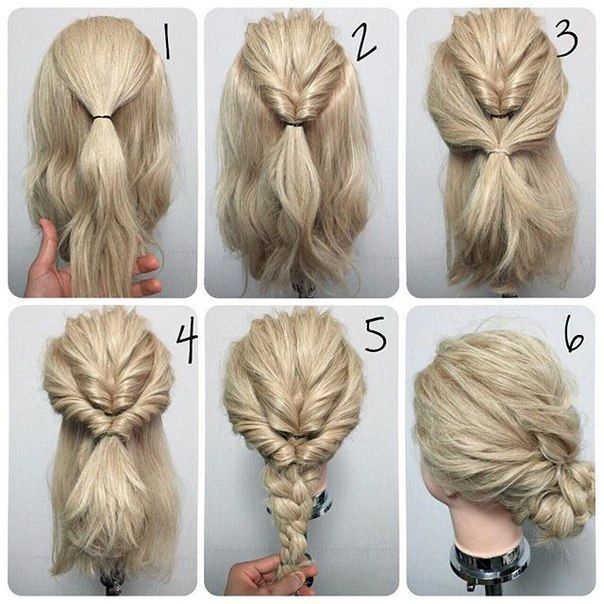 + 25 easy hairstyles 2018-2019 step by step 1