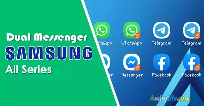 Pasang 2 akun WA, FB, Telegram dalam satu HP Samsung