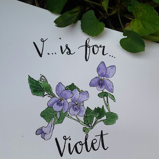 Violet :: www.AliceDrawsTheLine.co.uk