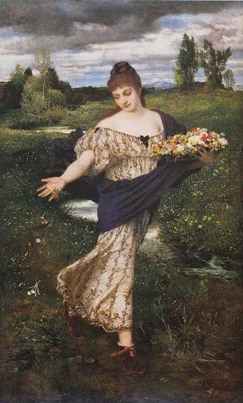 Arnold Böcklin - Flora, Blumen streuend