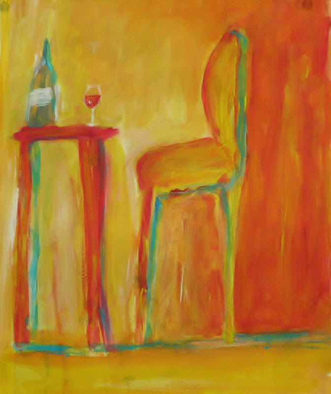 """""""At the Bistro"""", Acrylic/Pastel SOLD"""