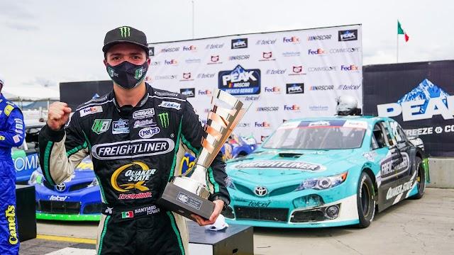 SANTIAGO TOVAR GANA EL TERCER LUGAR, MIENTRAS QUE PARDO Y OLIVERAS CIERRAN EN LAS POSICIONES 4 Y 6 RESPECTIVAMENTE EN NASCAR PEAK MÉXICO SERIES