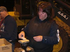 Photo: Sue and Dan hard at work....