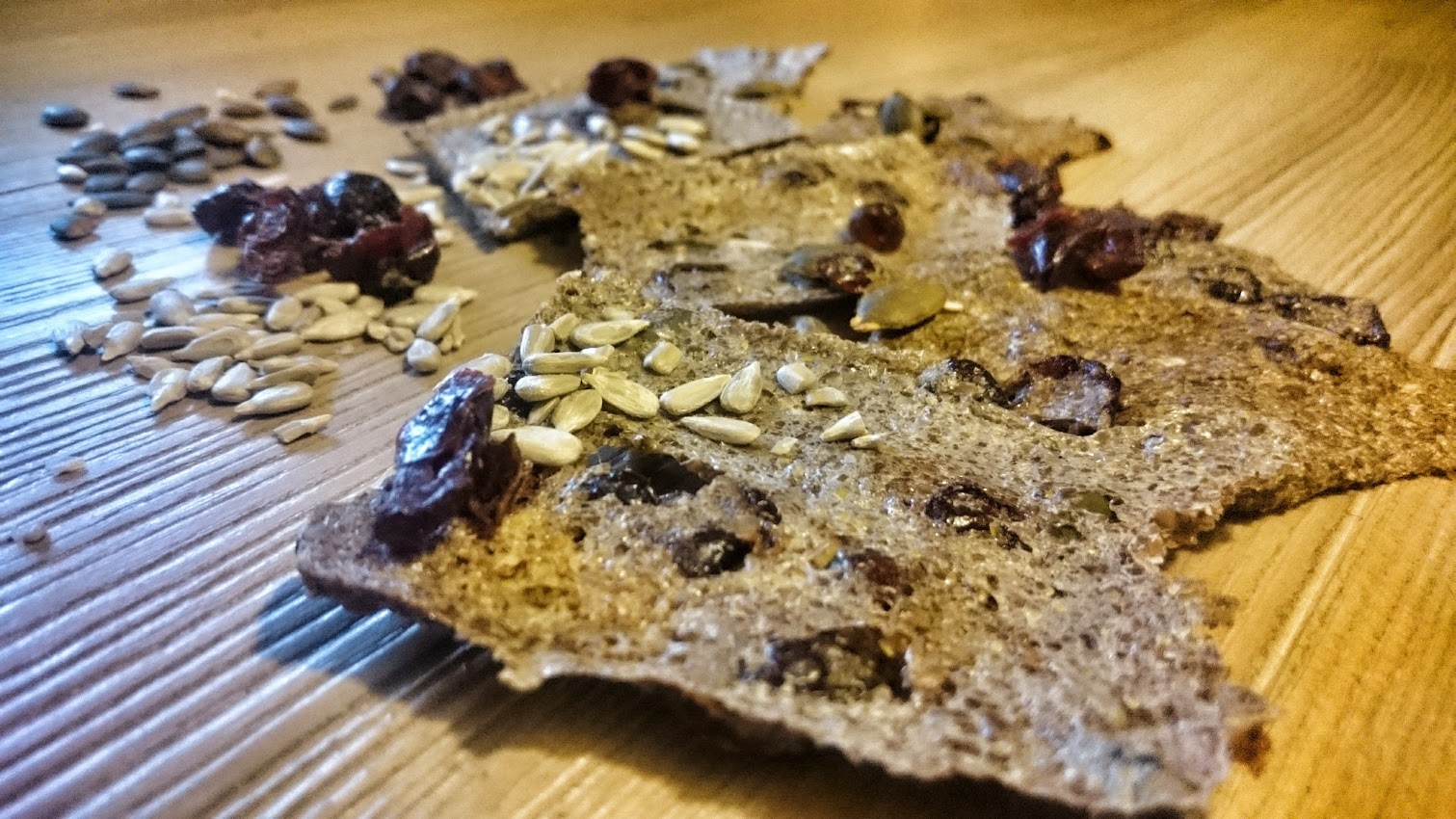 Crackers graines de lin tournesol potiron cranberries