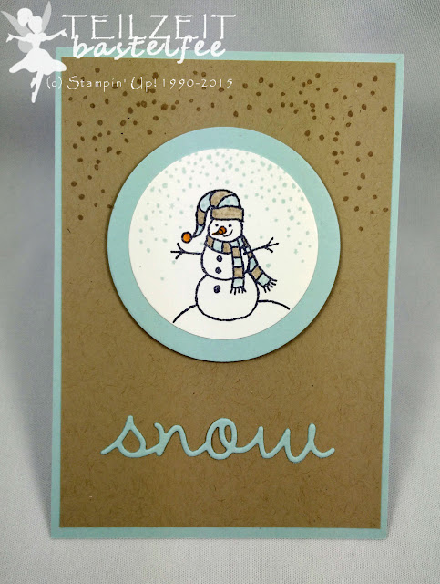 Stampin' Up! - In{k}spire_me #228, Christmas Special, Snow, Schnee, Sparkly Seosons, Schneemann