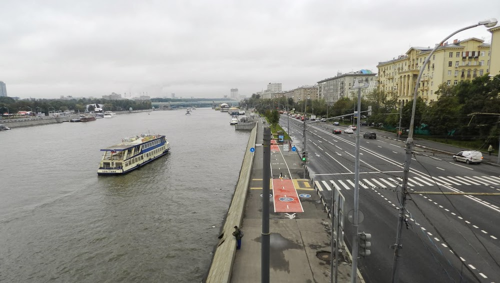crossing over the Moscow River (the river which Moscow is named after, obviously)