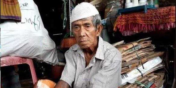 Kisah Pilu Pemulung Tua di Palembang, Penghasilan Sedikit Tapi Uang Tabungan Malah Dirampas Begal