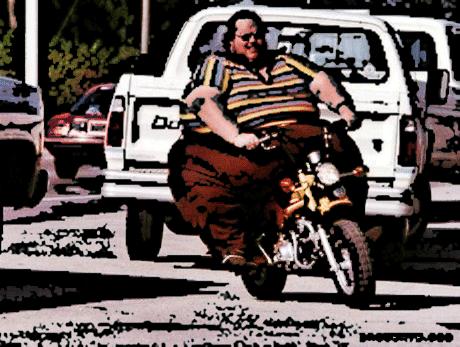 Imagine o susto ao ver você em cima da motocicleta!