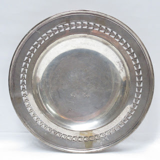 Sterling Silver Pierced Footed Serving Dish