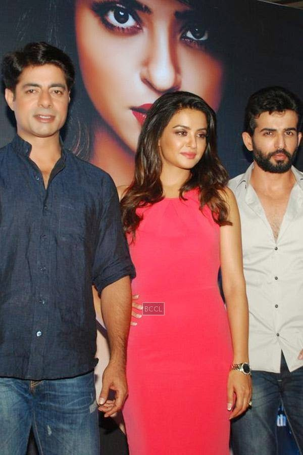 Sushant Singh, Surveen Chawla and Jay Bhanushali during the promotion of Bollywood movie Hate Story 2, held in Mumbai, on July 12, 2014. (Pic: Viral Bhayani)