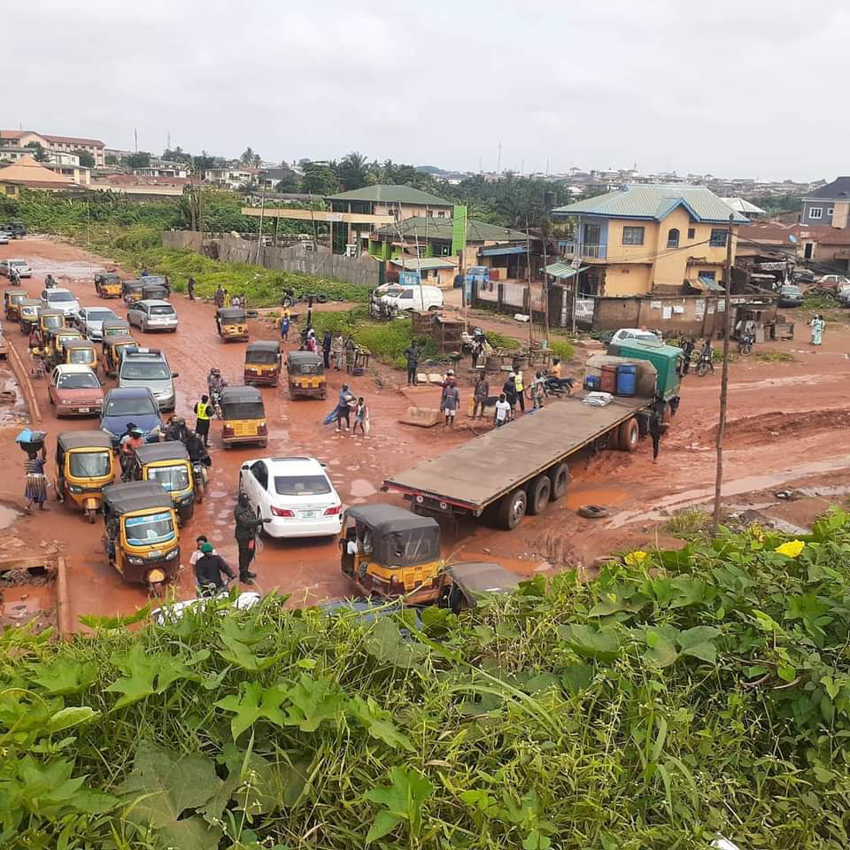 Onipepeye Axis Road called Old Ife Road leading from Agodi-Gate to Gbagi-Alakia-Adegbayi.