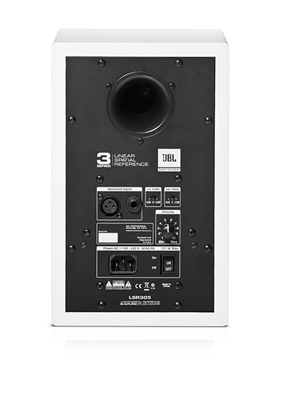 JBLPro LSR305 WT back 560