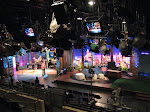 "Jay Leno's set...the sign on the couch says ""No taking pictures on the set"""