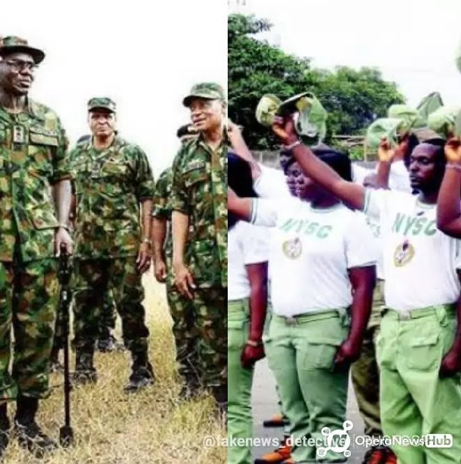– A member of the House of Representatives, Zakariya Dauda Nyampa, has advocated for fresh graduates to be enlisted into the army  – Nyampa said the military service should replace the mandatory one-year NYSC scheme  Nyampa who represents representing Michika/Madagali constituency of Adamawa state said the military service should replace the mandatory one-year National Youth Services Corps (NYSC).    He said graduates who do not have the interest to serve as military personnel should be allowed to venture into other endeavors after the mandatory one-year training and service in the Nigerian army.    If this Bill is passed into law, all fresh graduates will be enrolled in the Army and there won't be NYSC.  What Do You All Think About This?  Let's hear from you all.  Drop your comments