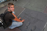 Bernd with the imprints of Arnie (© 2010 Isabell Gernert)