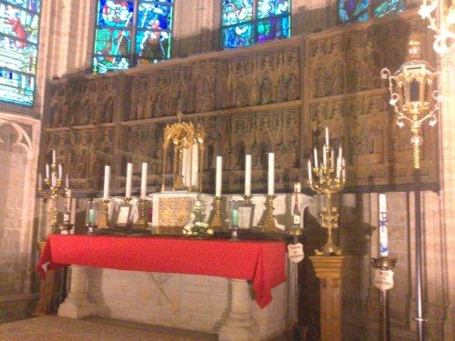 Retabel in de kerk van Hakendover.