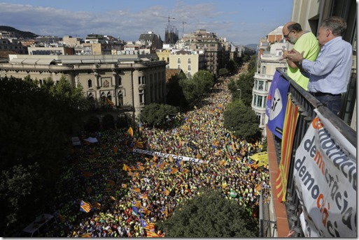 Catalans demonstrate on their national day