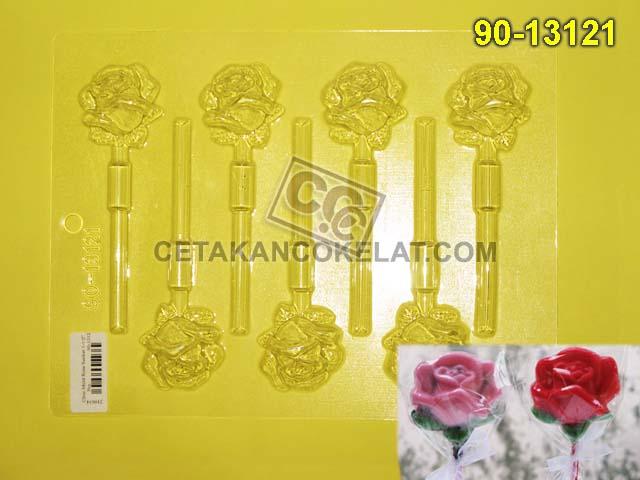 Cetakan Coklat 90-13121 cokelat bunga