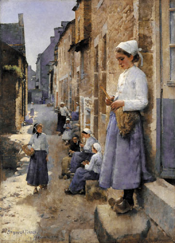 Stanhope Forbes - A Street in Brittany