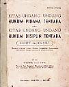 Kitab Undang-Undang Hukum Pidana Tentara dan Kitab Undang-Undang Hukum Disiplin Tentara