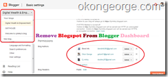 remove client's blogs from blogger blog dashboard
