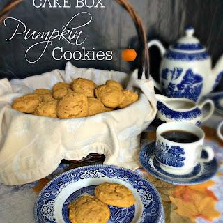 Cake Box Pumpkin Cookies.