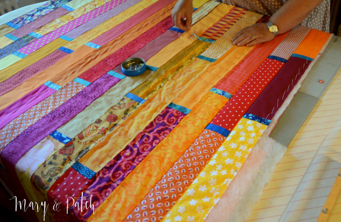 Maryandpatch, How we made a wedding quilt in a day