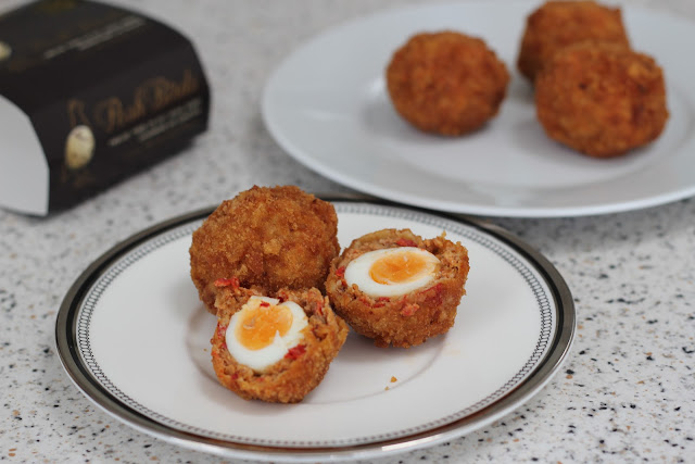 Chorizo scotch quails eggs i found this recipe on bbc good food and used it as a base to create my own scotch eggs forumfinder Choice Image