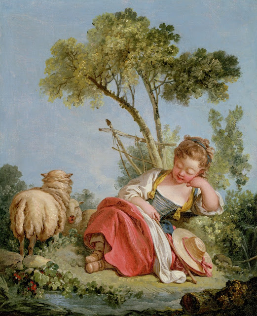 Francois Boucher - The Little Shepherdess