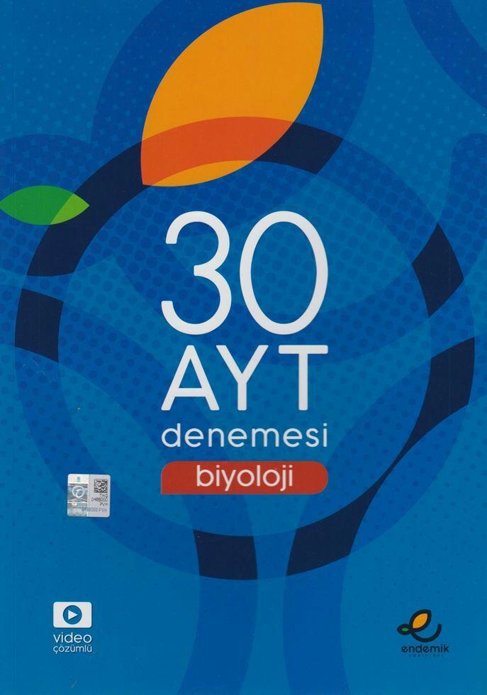 Endemik Yayınları AYT Biyoloji 30 Denemesi(2019-2020)