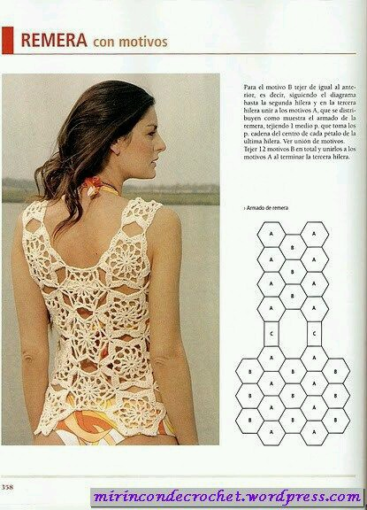 m s blusas con diagramas para tejer en crochet