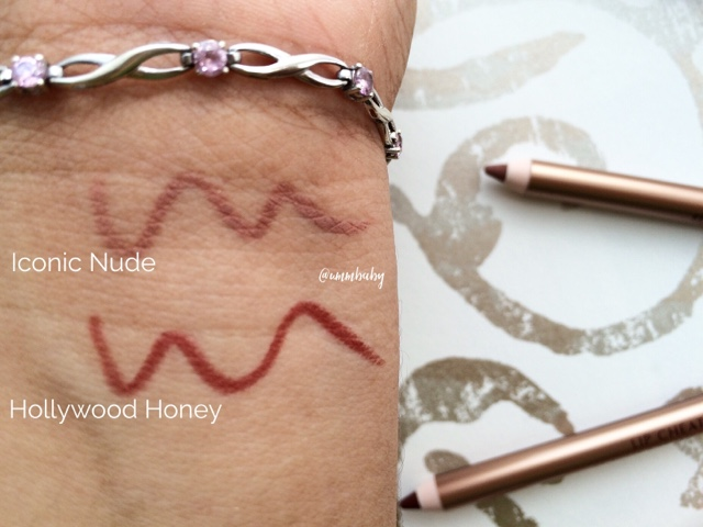 charlotte tilbury lip cheat lip liners swatches nc40 iconic nude and hollywood honey