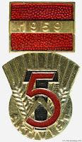 067 Aktivist 5-jahrsplans medailles