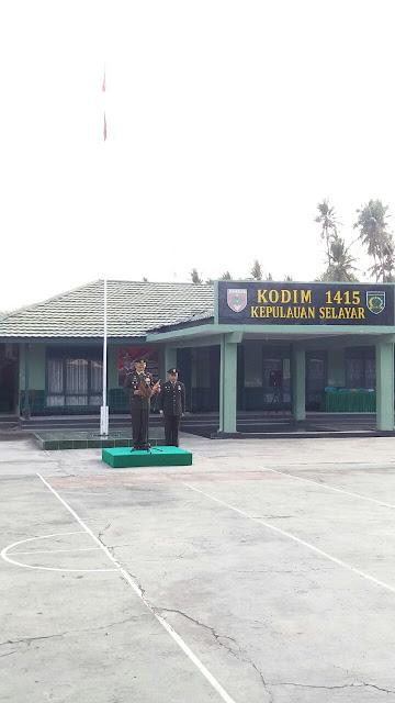 UPACARA HAPSAK DI LINGKUNGAN KODIM 1415/SELAYAR BERLANGSUNG HENING DAN KHIDMAT