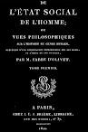 De L'etat Social de l'Homme, Tome I (1822,in French)