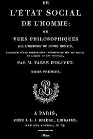 Cover of Fabre d'Olivet's Book De L'etat Social de l'Homme, Tome I (1822,in French)