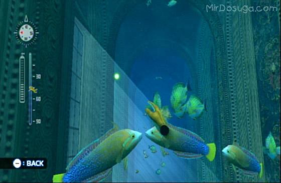 подводный замок в Endless ocean