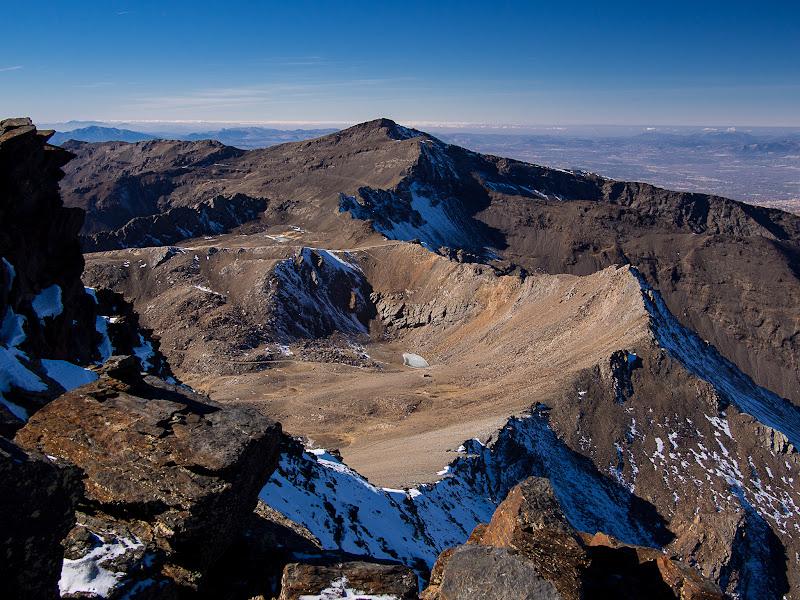 Cresta i pic Veleta des del cim del Mulhacén