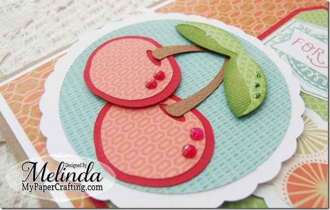 CTMH Cherry For You Tag Card Stamp of the Month