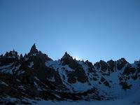 Sunset at Frey refugio -  outside Bariloche