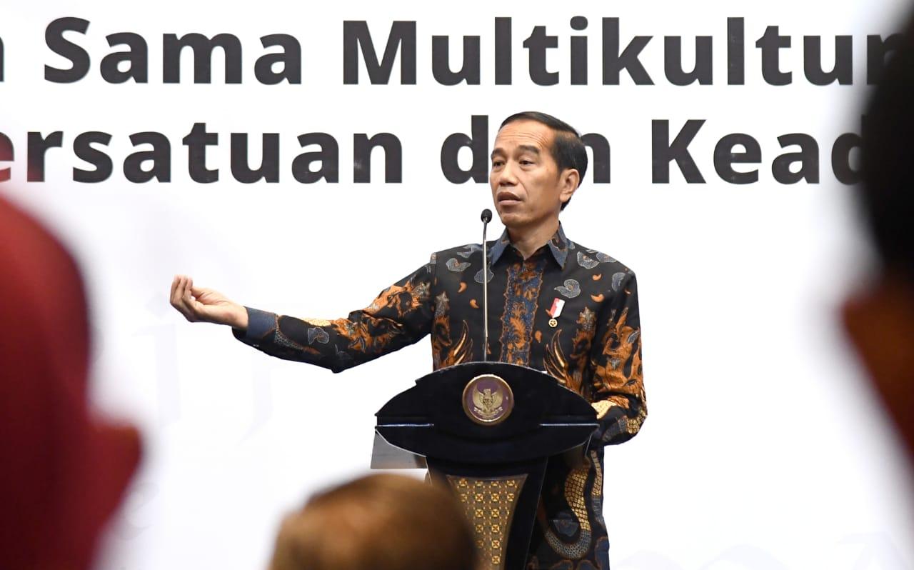 Jokowi Mengajak Untuk Kembali ke Semangat Berdirinya Negara ini, yaitu Bhinneka Tunggal Ika