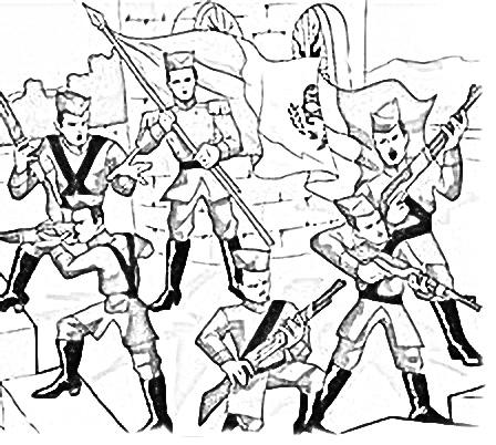 Dibujo de los niños héroes