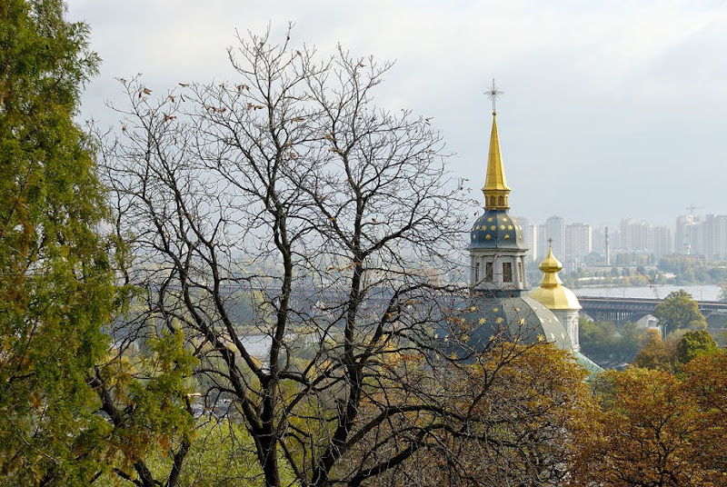 8. Domes of Vydubchi Monastery at Dnieper River